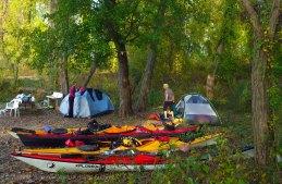 We set up camp