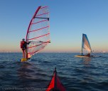... on a windsurfer