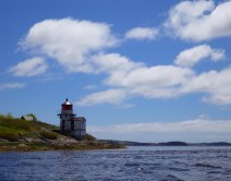 32. Lighthouses and tide rips in the lower Kennebec