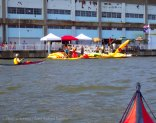 Back at Pier 40, welcomed by the colorful kayaks of the Downtown Boathouse