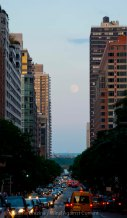 At the other end of 34th Street, the moon is staging its own Moonhenge!
