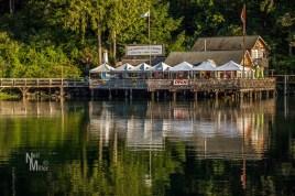 The Boardwalk Restaurant at sunset