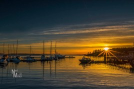 Sunset at Lund Harbour