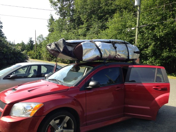 Lawrence's car packed for Nitnat Lake