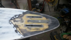 New fin boxes glassed in