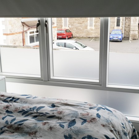Bedroom Window - Lower Section Frosted