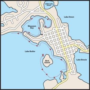 Windermere Bird Island map-Windermere Boat Parade