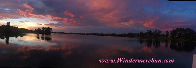 Dark pastel panoramic view of Windermere/Central Florida Sunset (credit: Windermere Sun-Susan Sun Nunamaker)