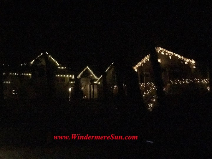 Holiday Lights at Houses near Windermere Town Square (credit: Windermere Sun-Susan Sun Nunamaker)