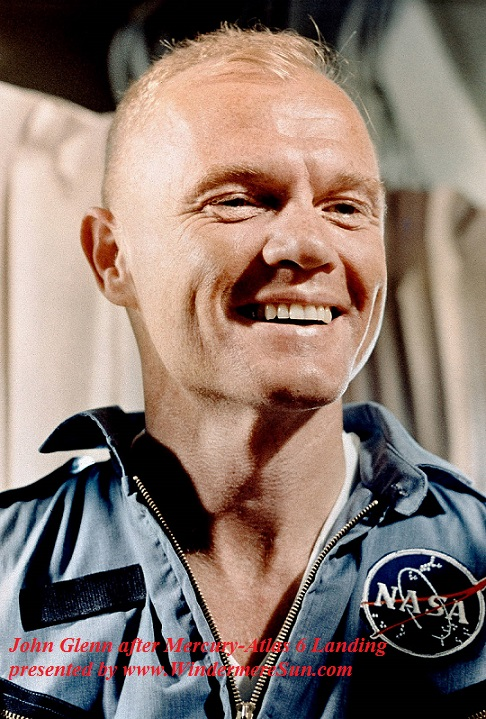 John Glenn after Mercury-Atlas 6 Landing final