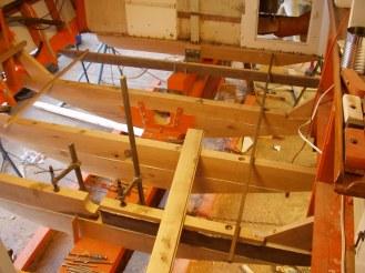 Installing new floors - tug boat restoration