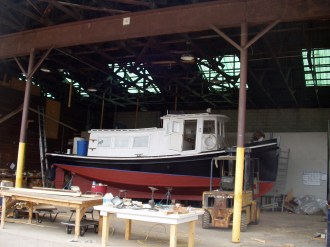 Tug boat restoration by Windall Woodworks