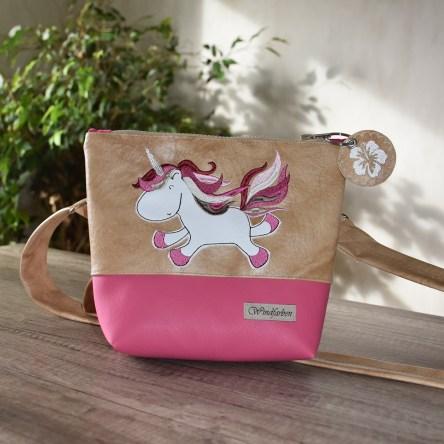 Einhorn hellbraun-pink