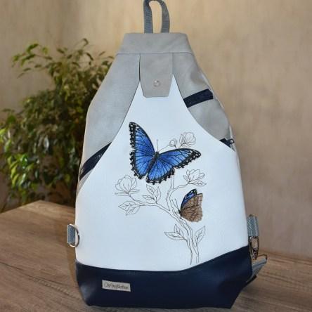 Blauer Morphofalter Sling Bag