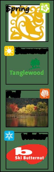 Berkshire Botanical Gardens, Tanglewood, October Mountain, Ski Butternut