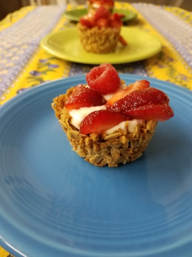 Granola Cups for Breakfast at Windflower Inn
