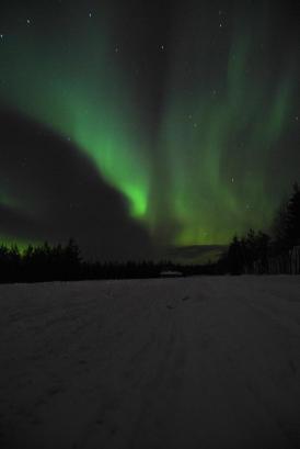 northern lights in rovaniemi, finland