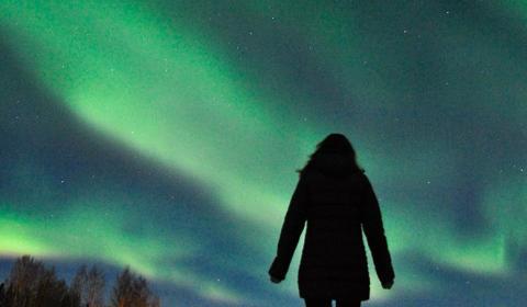 Northern lights, Aurora Borealis, Lapland, Finland