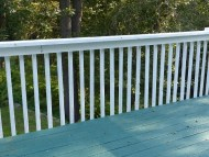 Wooden vertical balusters