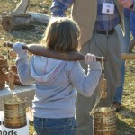 Child carrying a sap yoke
