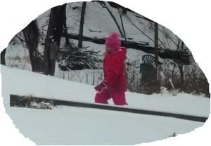 Tromping through snow
