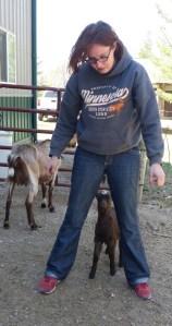 Elise with goat