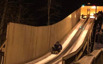 Screaming Down Pokagon State Park's Toboggan Run