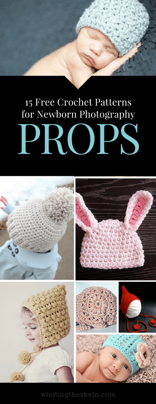 15 Free Crochet Patterns for Newborn Photography Props