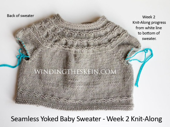 Seamless Yoked Baby Sweater, knit-along, winding the skein