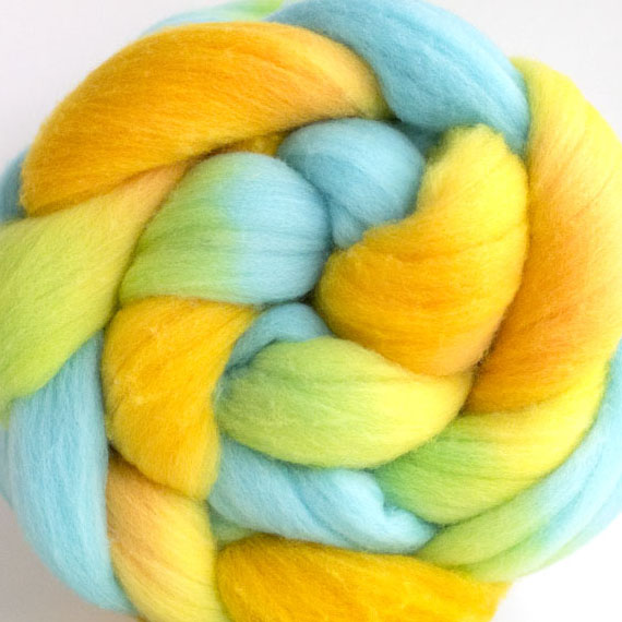 windingtheskein, hand dyed fiber, roving, wool roving for spinning