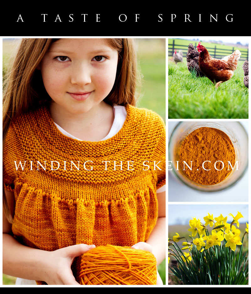 spring knitting projects, turmeric beneifts