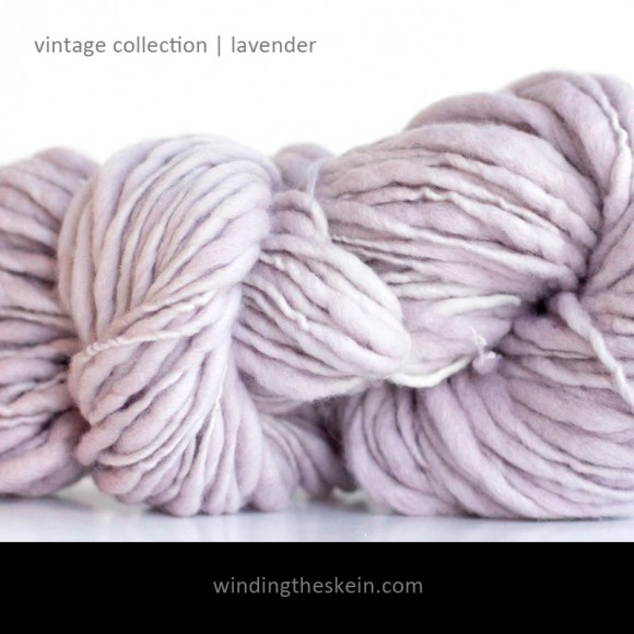 handspun thick and thin, merino, yarn, vintage collection,winding the skein