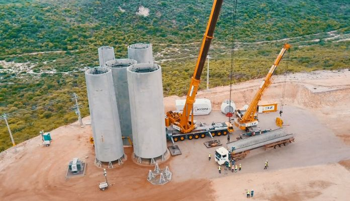 The Nordex Group manufactures its 1000th concrete tower for its own wind turbines