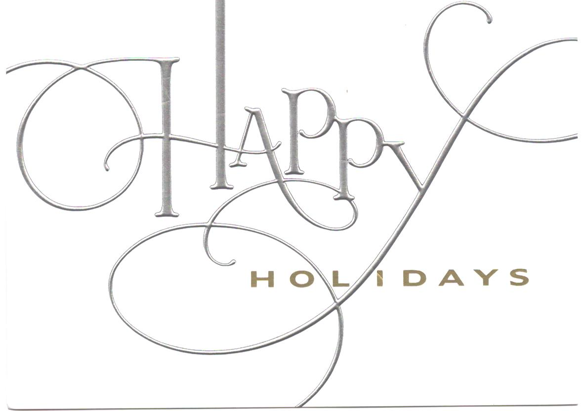 Happy Holidays And Best Wishes For A Wonderful