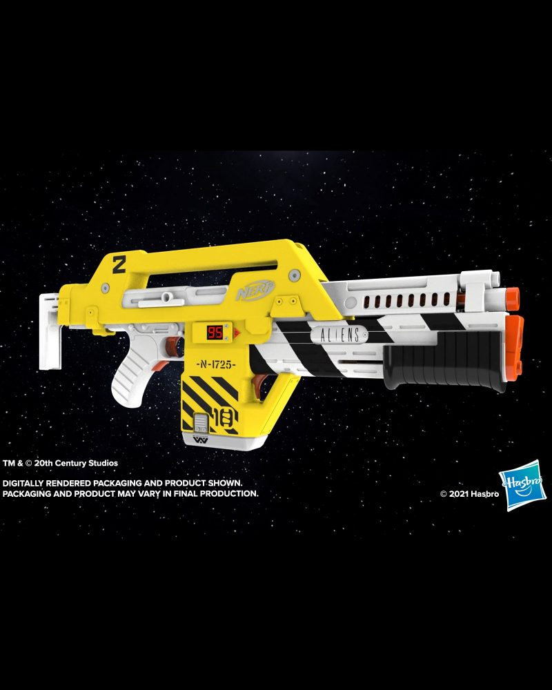 Hasbro has released an awesome new Nerf M41-A Blaster from the film 'Aliens', ,