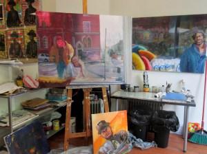 Work in progress at Window Studio in June 2014