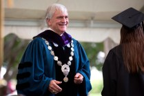 Brenau University President Ed Schrader handed out diplomas to Women's College students.