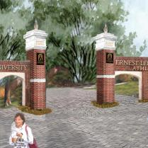 """Part of the land donation includes the site once occupied by the elementary school where Doug and Kay Ivester met in third grade and the field for the textile mill's baseball and softball teams. The development will be named """"Ernest Ledford Grindle Athletics Park""""honor of Kay Ivester's late father."""