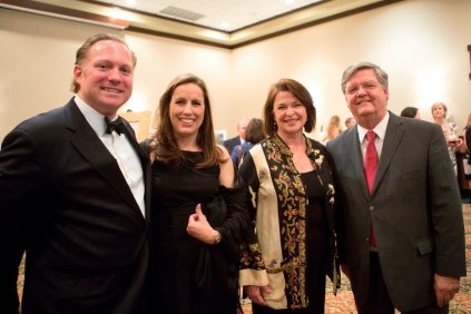 From left, John and Astrid Breakfield pose for a photo with Brenau Women's College alumna Linda Rogers and her husband, Georgia State Rep. Carl Rogers during the silent auction at the Brenau Gala.