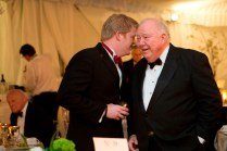 Philip Wilheit Jr., left, shares a word with Brenau Trustee Jim Walters during the Brenau Gala.