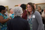 Occupational therapy doctoral student, Kimberly Bridges, right, at the reception for the new OTD program at Brenau.