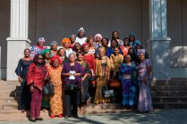 The delegates from the Nigerian QBWA arrive at the John S. Burd Center for the Performing Arts.