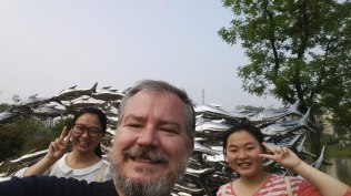 Two of my education students, Lily and Belle, took me for a visit to Wuhu's Sculpture Park just outside of town. The park contains a multitude of sculptures, many of which have won prizes in exhibitions around the region.