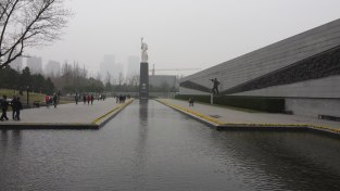 One of the most solemn places we visited was the Nanjing Massacre Memorial and Museum, which commemorates the killing of thousands of Nanjing's residents by the Japanese during World War II. This plaza stands on an area where many of the victims were killed when the city fell in 1937. It's impossible to visit such a site and not be moved deeply by the suffering that occurred there.