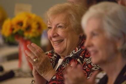 Daisy Goodnight Waldrep, WC '61, at the 24 Karat Gold Club & Golden Roses Tea on Friday, April 15, 2016, in Gainesville, Ga. (AJ Reynolds/Brenau University)