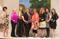 Members of the 1991 Class of the Women's College (from left to right) Kim Henry Troha, Darlene Vinson Bardwell, Katie Morris, Jonna Kimbrell-Schwalb, Vanessa Stallings-Wood, Susan Bodahl Rickson, Katie Dugan and Ilicia Goodman pose for a photo during their 25th Reunion during the Brenau University Alumnae Reunion Weekend on Friday, April 15, 2016, in Gainesville, Ga. (AJ Reynolds/Brenau University)