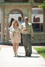 Amber Urso, freshman class representative, escorted by her father, David Urso. 2016 Alumnae Reunion Weekend