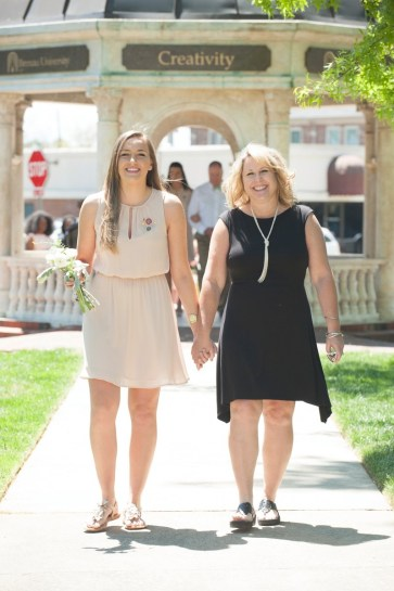 Pamela (Pam) Konken, junior class representative, escorted by her mother, LeAnn Konken. 2016 Alumnae Reunion Weekend