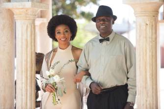 Prince Paris Hawkins escorted by her father Irvin Hawkins Senior. 2016 Alumnae Reunion Weekend