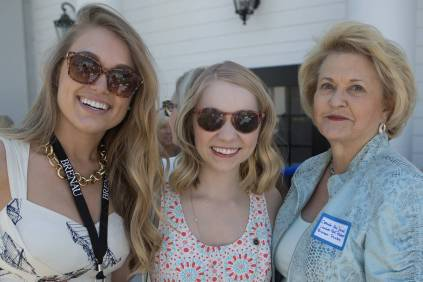 Carole Ann Daniel, an Alpha Delta Pi Lambda Past President and Brenau Trustee, right, poses for a photo with Katie Barth, WC '14, and Katey Kibler Williams, WC '14. (AJ Reynolds/Brenau University)